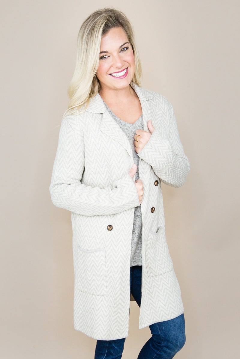 Patterned Move It Forward Jacket  *all sales final*