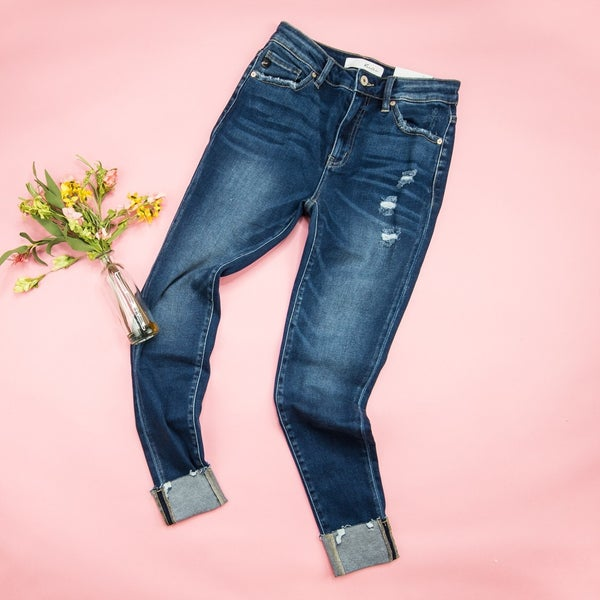 KanCan High Rise Dark Denim Jeans