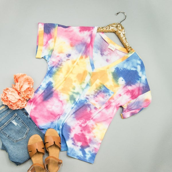 Falling For Tie Dye Top