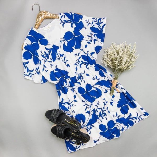 Cobalt Floral Dress