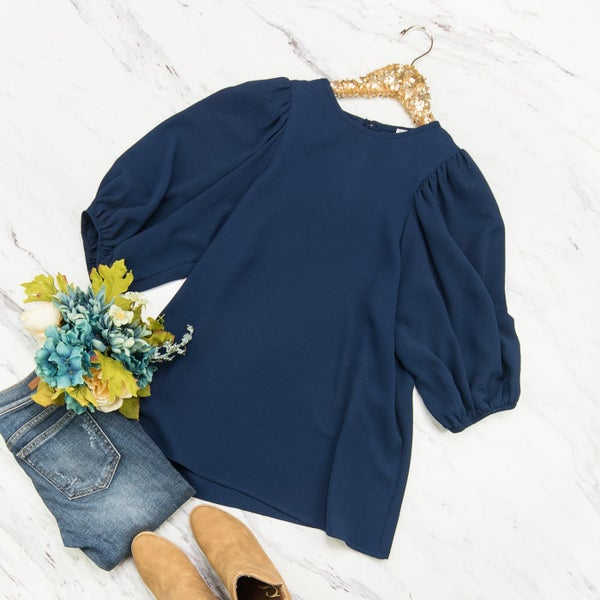Navy and Sass Blouse
