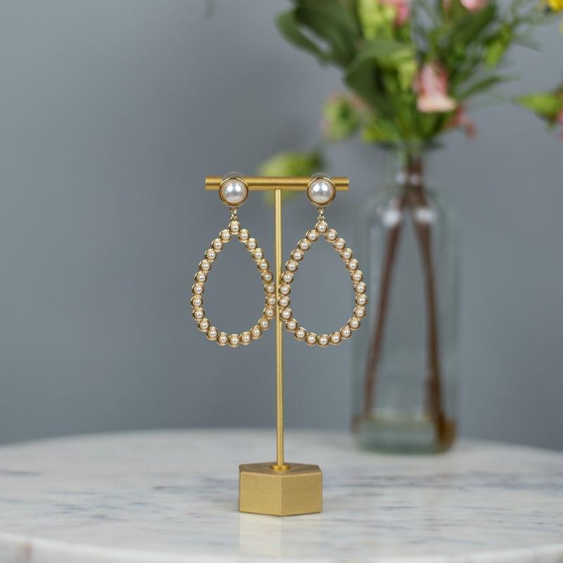 Pearl Gold Teardrop Earrings