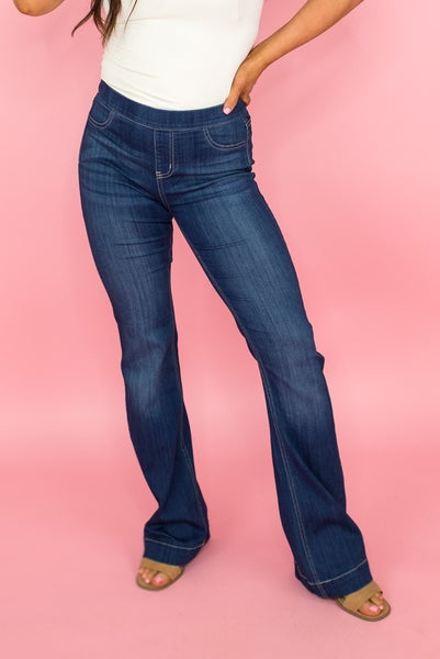 Cello Dark Flare Denim