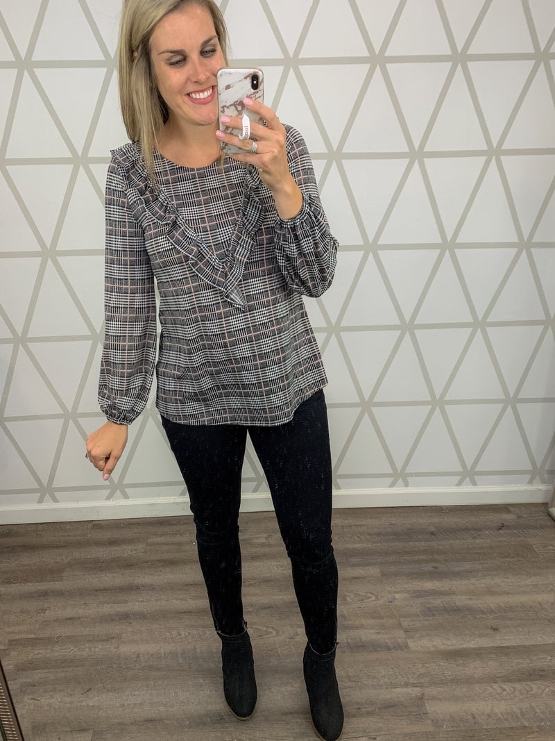 Pretty in Plaid Blouse *ALL SALES FINAL*