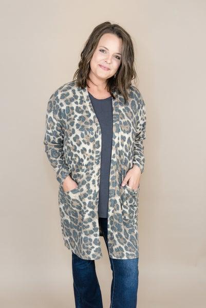 Muted Leopard Cardigan