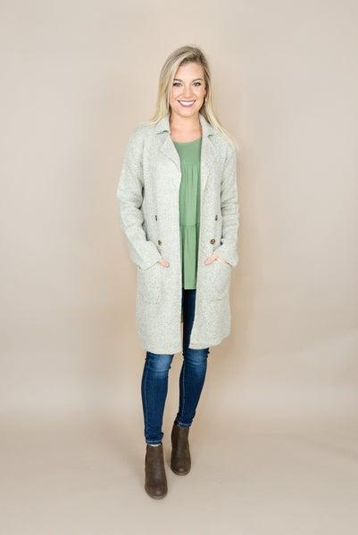Oatmeal Button Overcoat