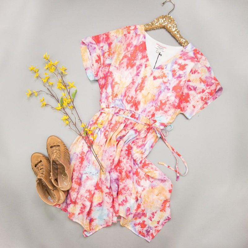 Layover Tie Dye Dress *all sales final*