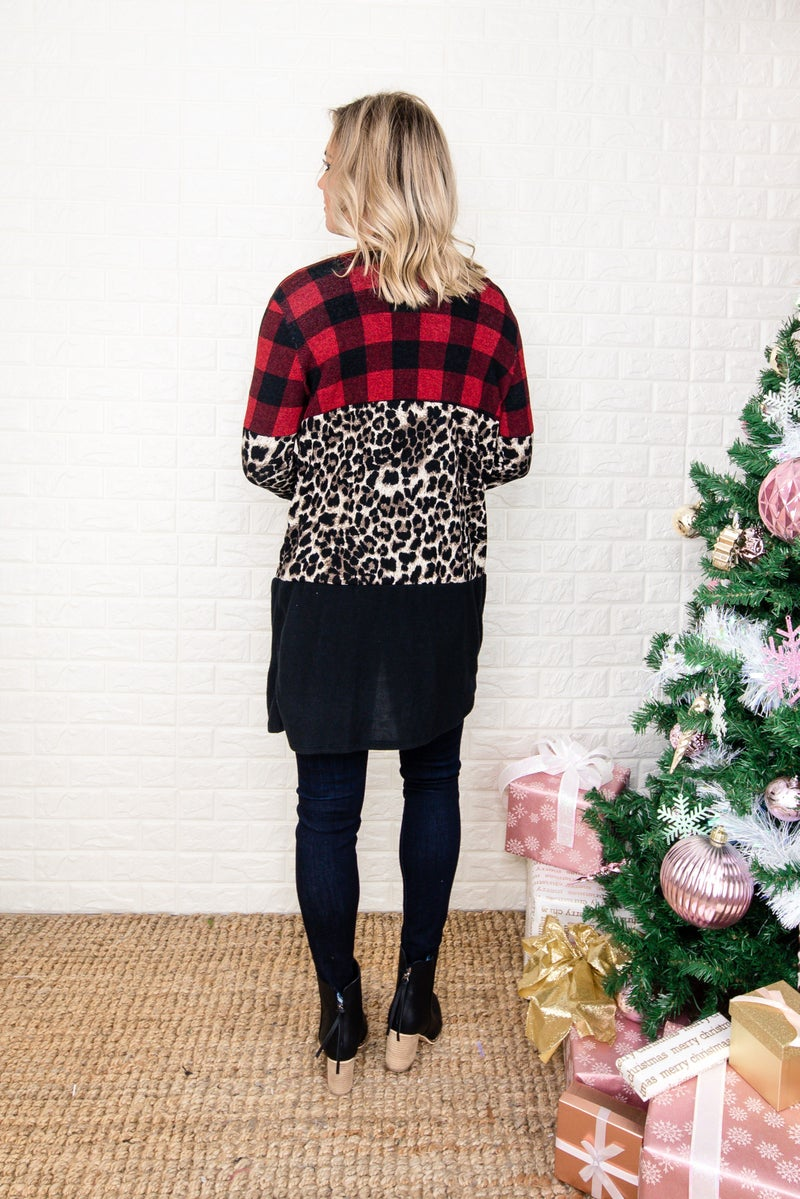 Holiday Plaid Cardi