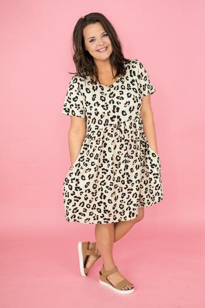 Taupe Leopard Dress