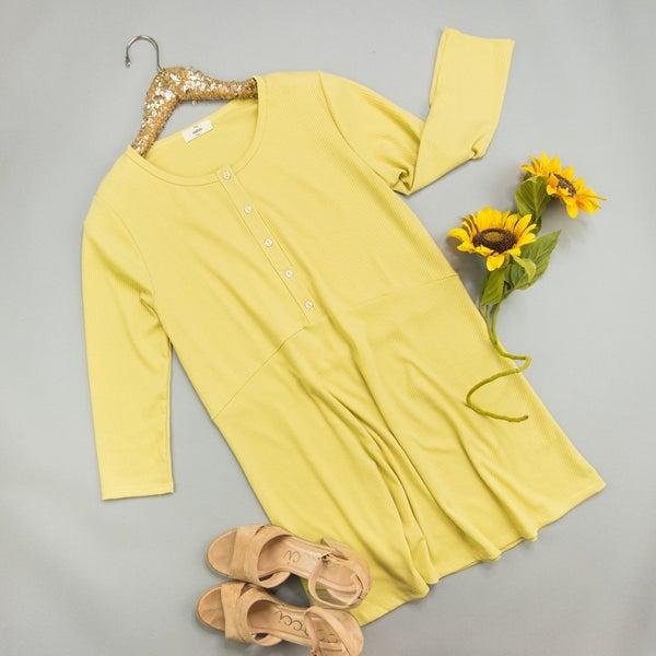 Yellow Henley Dress