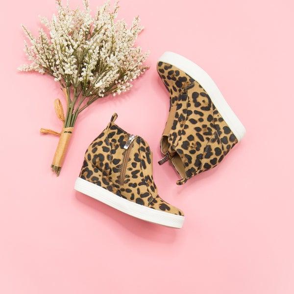 Leopard Zoey Wedge Sneaker *all sales final*