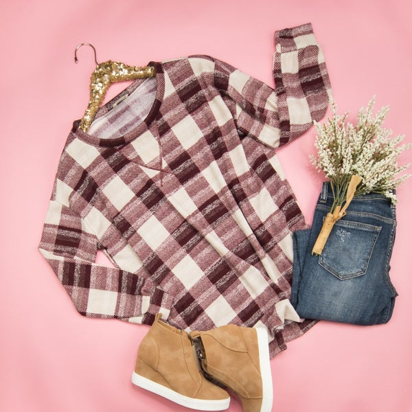 Relaxed Gingham Tee *ALL SALES FINAL
