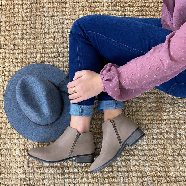 Short Taupe Booties