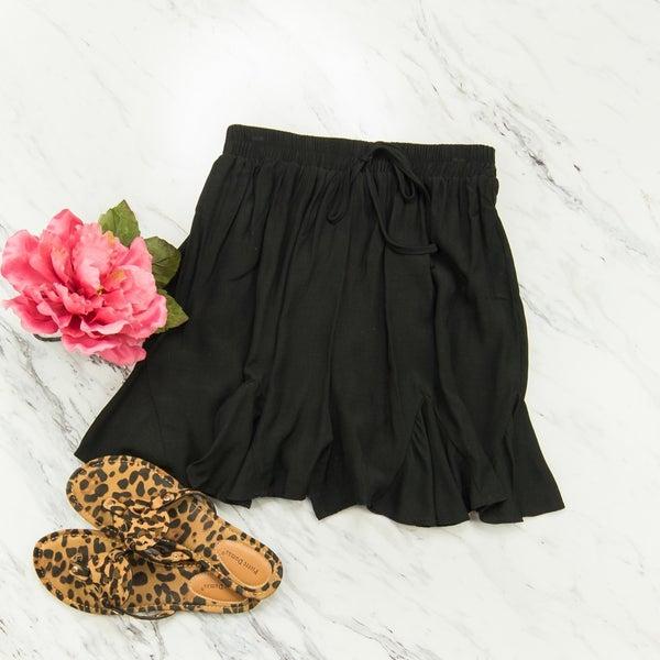 Black Flirty Shorts