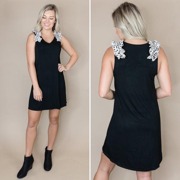 Ruffled Spotty Dot Dress *all sales final*