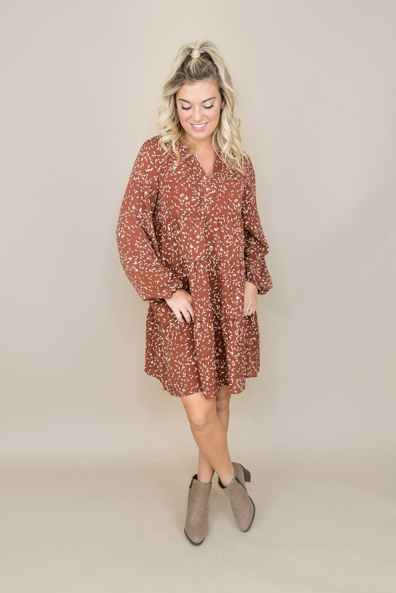 Fall Speckled Dress