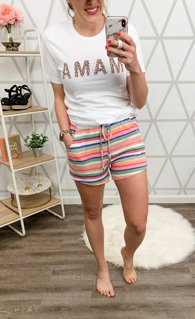 Candy Striped Shorts *ALL SALES FINAL