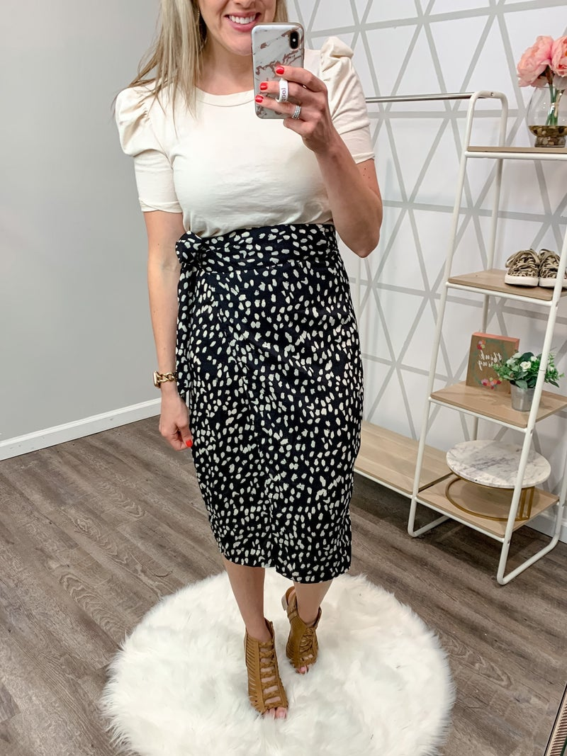 Spotty Dot Wrap Skirt *all sales final*
