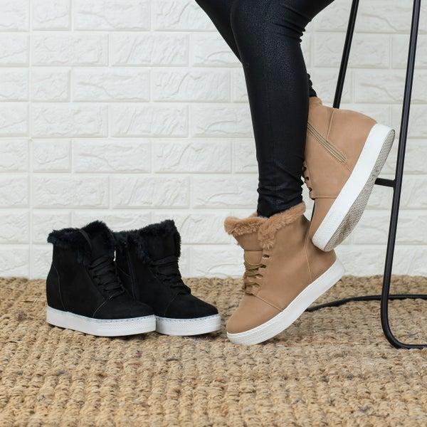 Fur Sneaker Wedge