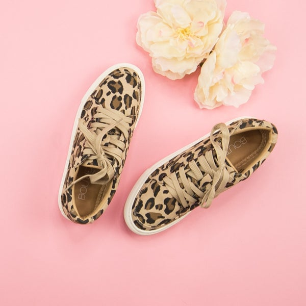 Leopard Puzzle Sneakers *all sales final*