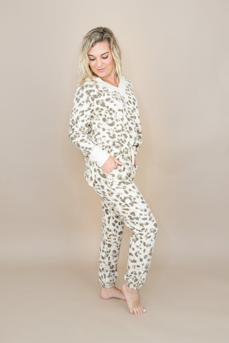 Ivory Leopard Lounge Pants