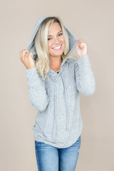 Gray Hooded Tee *all sales final*