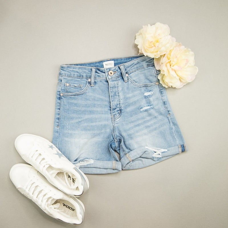 Special A Button Denim Shorts(REPOST)