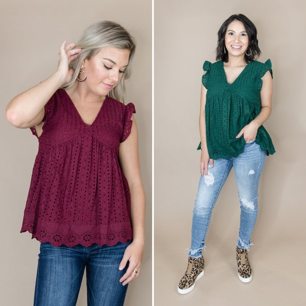 Eyelet Fall Blouse *all sales final*