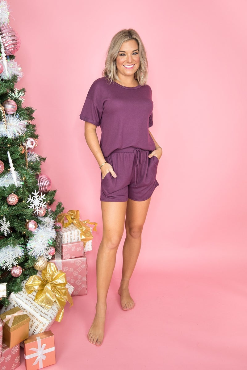 Flaunt Friday // Plum Excited Lounge Set  *all sales final*