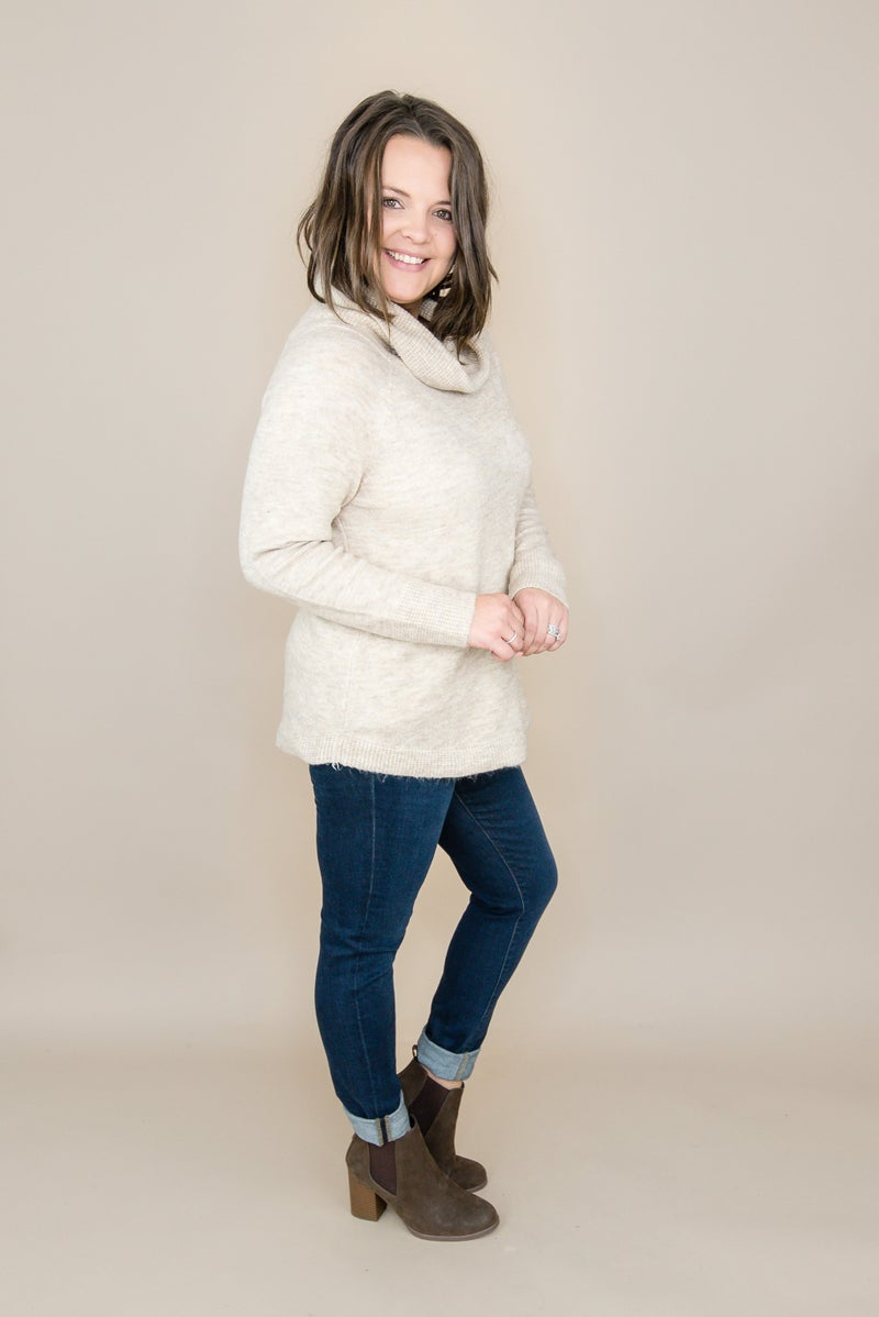Staccato Cowl Sweater