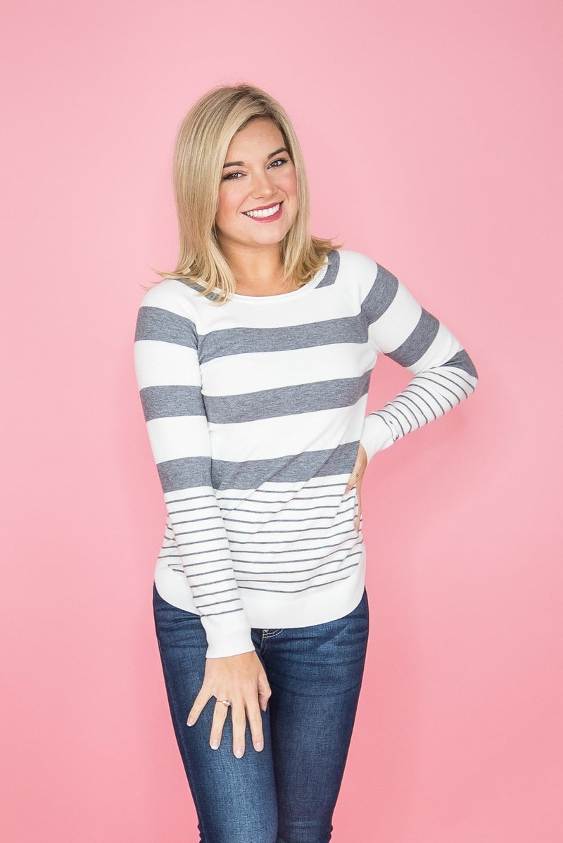 Staccato Stripes Sweater