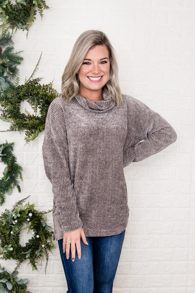 Chenille Turtleneck Top *all sales final*