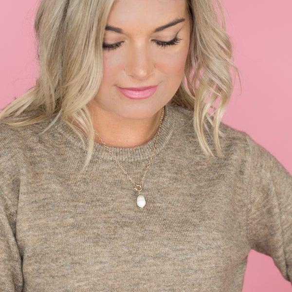 Delicate Pearl Drop Necklace