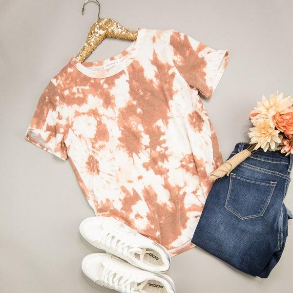 Rust Tie Dye Top *all sales final*