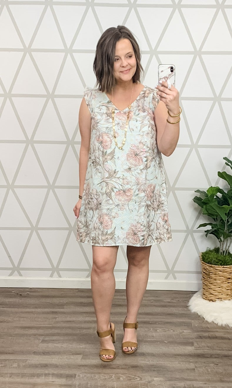 Embroidery Floral Dress *all sales final*