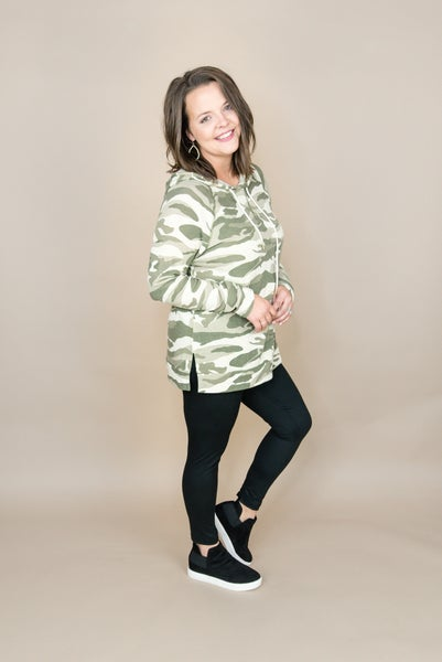 Hooded Camo Top *all sales final*