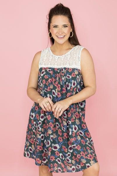 Floral & Lace Boho Dress