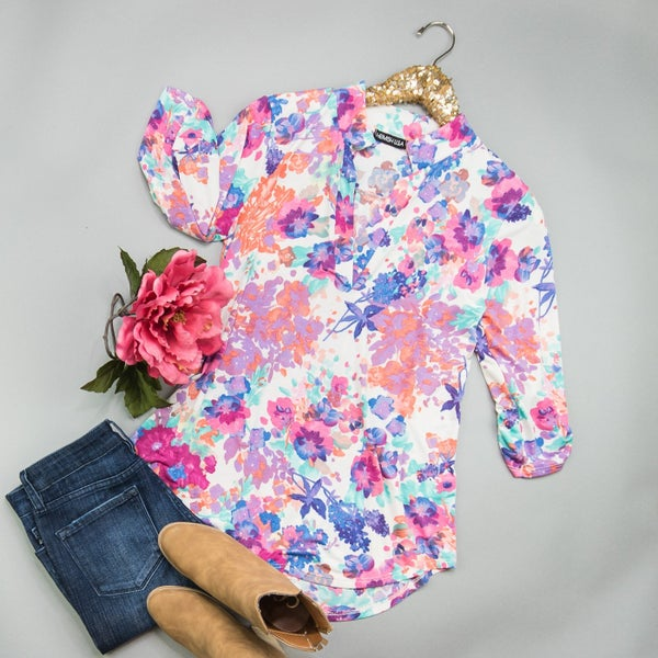 Pops of Spring Top *ALL SALES FINAL*