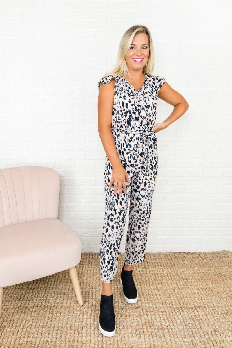 Leopard Spice Jumpsuit *all sales final*