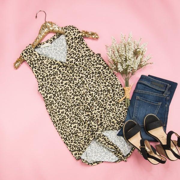 Faithfully Leopard Top