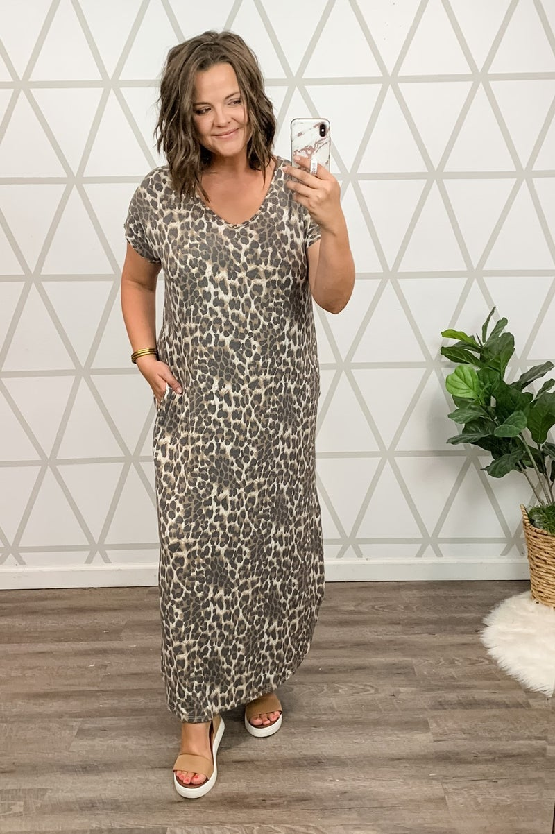 Muted Leopard Maxi  *all sales final*