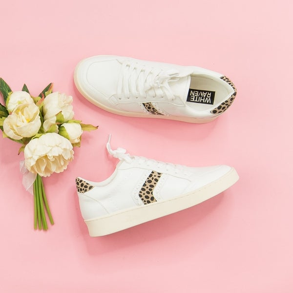 Leopard Stripe Sneakers *all sales final*