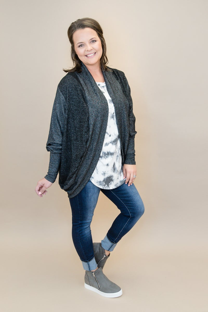 One & Only Black Cardigan  *all sales final*