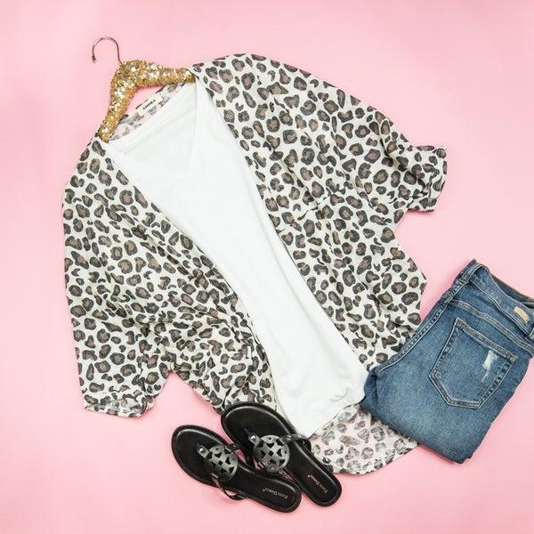 Summer Leopard Kimono  *all sales final*
