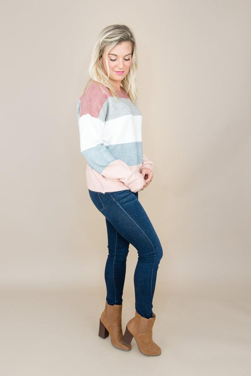 Pink Mix Fall Sweater
