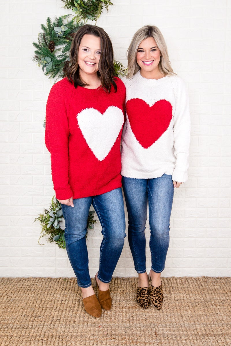 Chenille Valentine's Sweater
