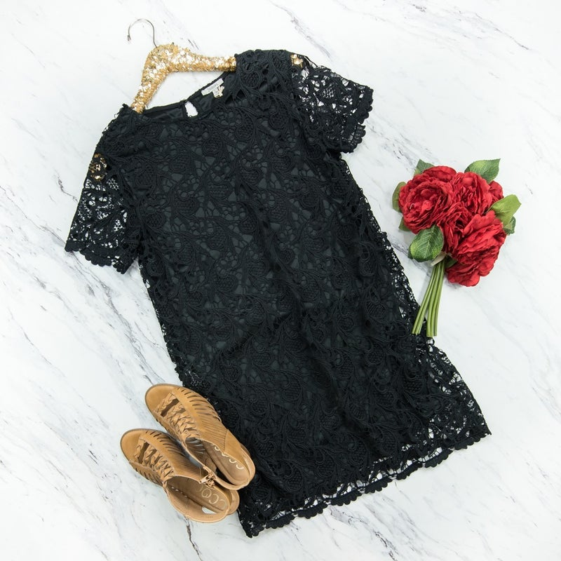 Sassy Lace Black Dress  *all sales final*