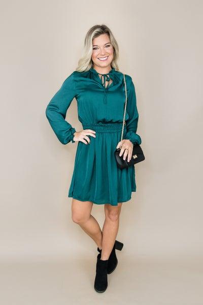 Smooth Hunter Green Dress *all sales final*