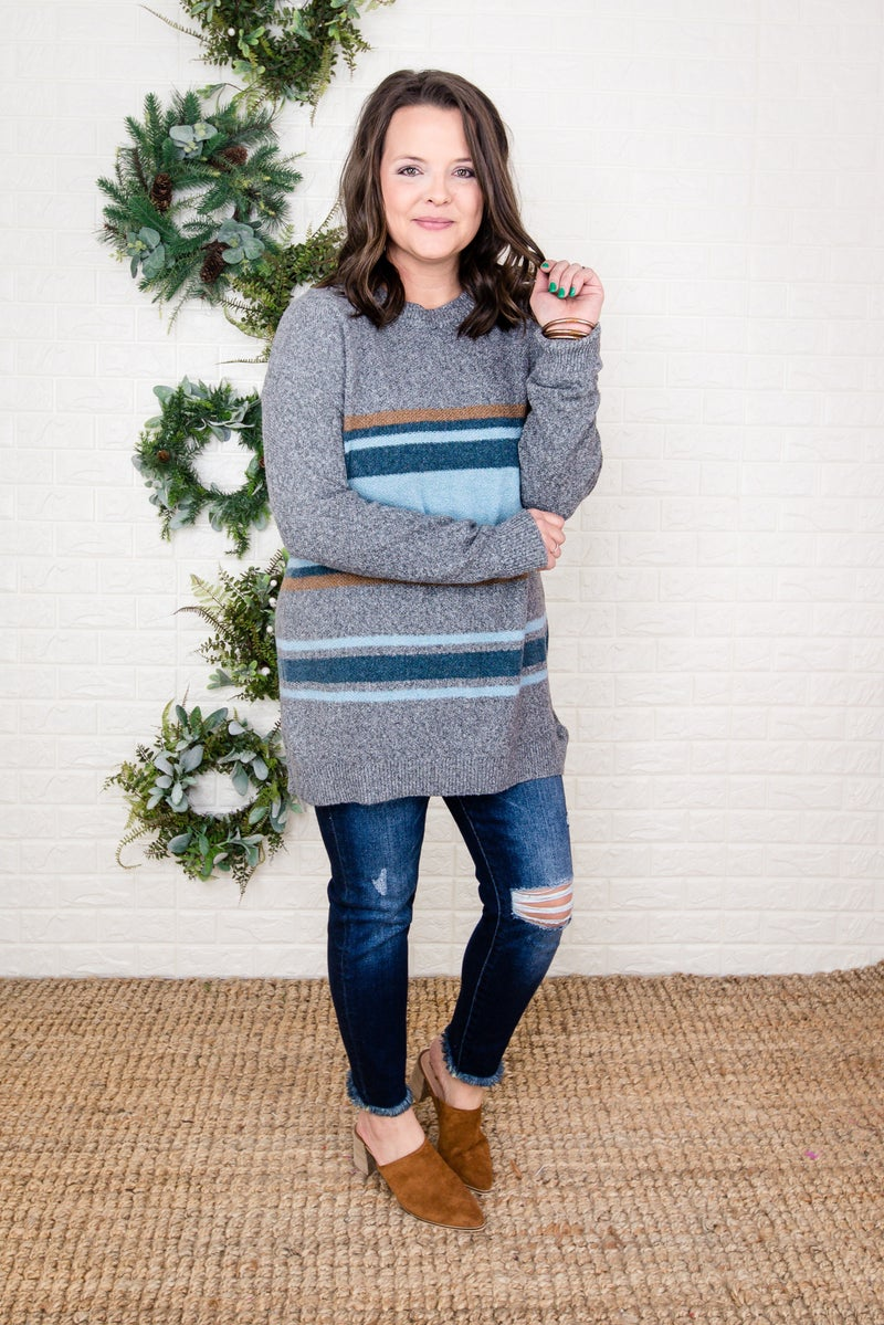 Striped Boyfriend Sweater