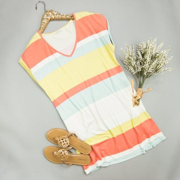 Coral Pop Dress